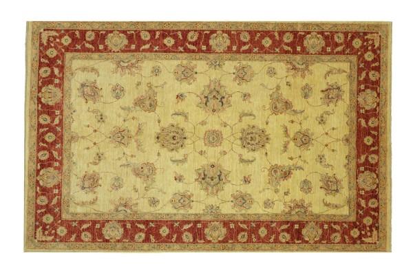 Afghan Chobi Ziegler 244x175 Handgeknüpft Teppich 180x240 Beige Floral Kurzflor Orient