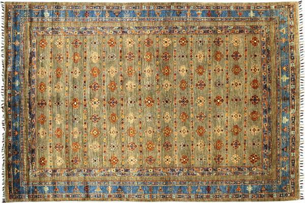 Afghan Ziegler Ariana 239x176 Handgeknüpft Orientteppich 180x240 Braungrün