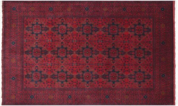 Afghan Khal Mohammadi 296x200 Handgeknüpft Teppich 200x300 Rot Geometrisch Muster