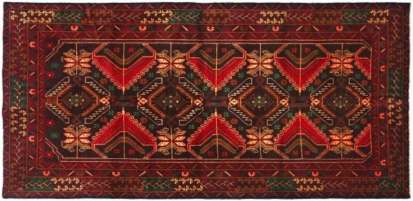 Afghan Belutsch Baluch 200x108 Handgeknüpft Orientteppich 110x200 Braun Geometrisch