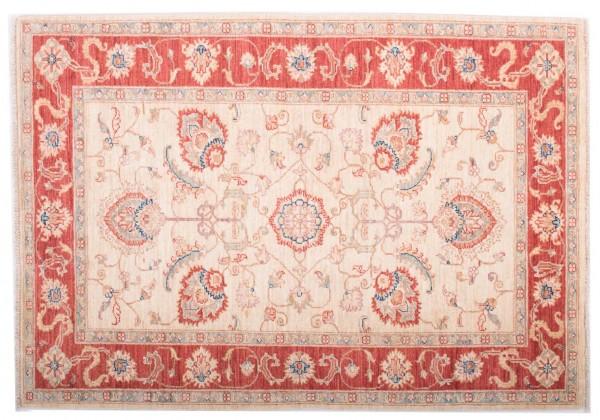 Afghan Chobi Ziegler Fein 146x103 Handgeknüpft Teppich 100x150 Rot Blumenmuster