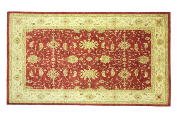 Afghan Chobi Ziegler 295x192 Handgeknüpft Teppich 190x300 Rot Floral Kurzflor Orient