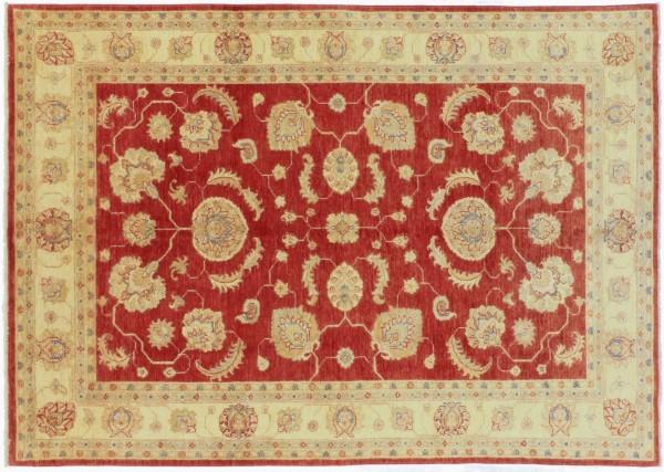 Afghan Chobi Ziegler 231x164 Handgeknüpft Teppich 160x230 Rot Orientalisch Kurzflor