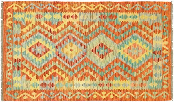Afghan Maimana Kelim Bunt 150x100 Handgewebt Teppich 100x150 Bunt Geometrisch Orient