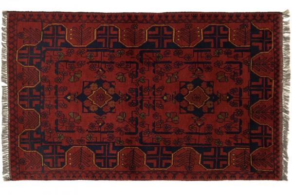 Afghan Khal Mohammadi 120x74 Handgeknüpft Teppich 70x120 Rot Geometrisch Muster