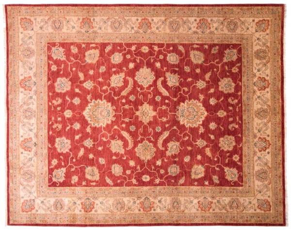 Afghan Chobi Ziegler Fein 247x198 Handgeknüpft Teppich 200x250 Beige Blumenmuster