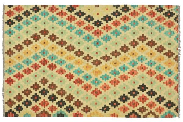 Afghan Maimana Kelim Bunt 210x153 Handgewebt Teppich 150x210 Bunt Geometrisch Orient