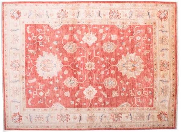 Afghan Chobi Ziegler Fein 199x147 Handgeknüpft Teppich 150x200 Rot Blumenmuster