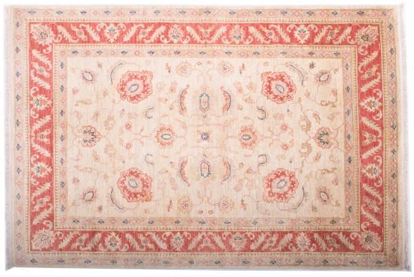 Afghan Chobi Ziegler Fein 179x121 Handgeknüpft Teppich 120x180 Beige Orientalisch