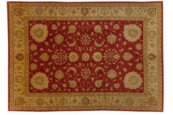 Afghan Chobi Ziegler 411x300 Handgeknüpft Teppich 300x410 Rot Orientalisch Kurzflor