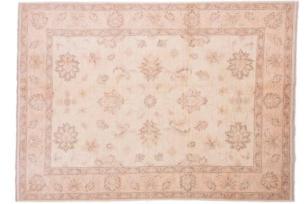 Afghan Chobi Ziegler 208x150 Handgeknüpft Teppich 150x210 Beige Orientalisch Kurzflor