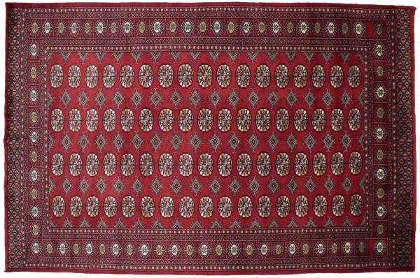 Pakistan Buchara 238x156 Handgeknüpft Teppich 160x240 Rot Orientalisch Kurzflor Orient