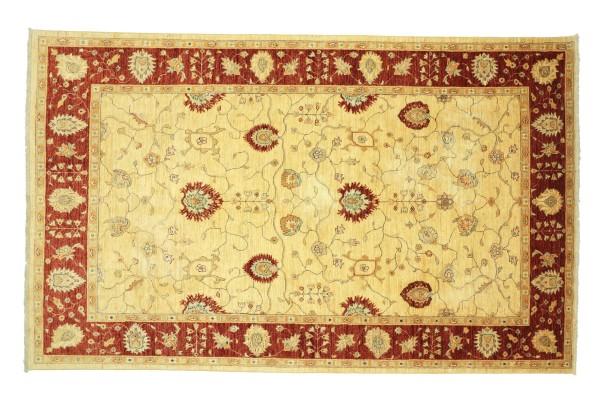Afghan Chobi Ziegler 314x208 Handgeknüpft Teppich 210x310 Beige Floral Kurzflor Orient