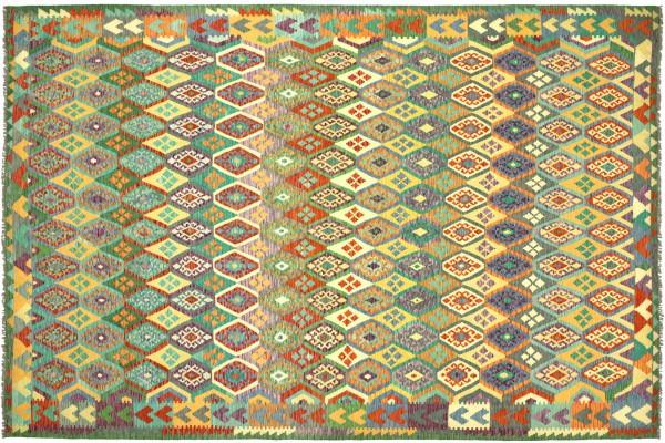 Afghan Maimana Kelim Bunt 362x262 Handgewebt Teppich 260x360 Bunt Geometrisch Orient