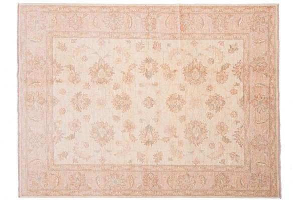 Afghan Chobi Ziegler 205x153 Handgeknüpft Teppich 150x210 Beige Orientalisch Kurzflor