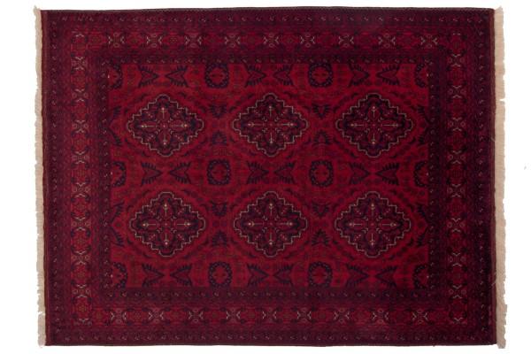 Afghan Belgique Khal Mohammadi 199x152 Handgeknüpft Teppich 150x200 Braun Geometrisch