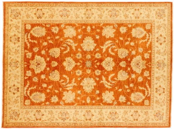 Afghan Chobi Ziegler 241x179 Handgeknüpft Teppich 180x240 Orange Blumenmuster Kurzflor