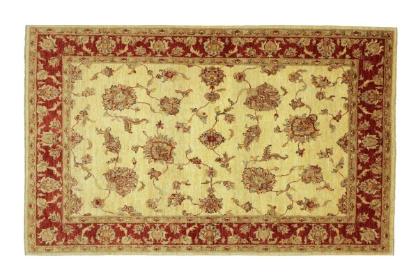 Afghan Chobi Ziegler 233x171 Handgeknüpft Teppich 170x230 Beige Floral Kurzflor Orient