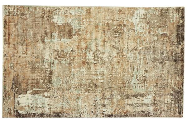 Handloom Vintage 230x160 Handgewebt Teppich 160x230 Braun Abstrakt Handarbeit Orient