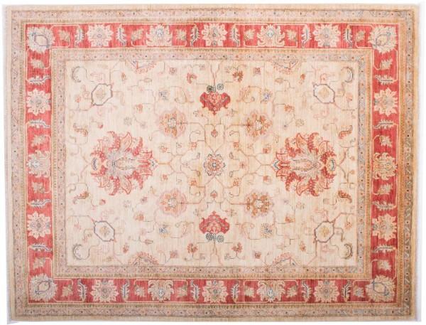 Afghan Chobi Ziegler Fein 194x151 Handgeknüpft Teppich 150x190 Beige Blumenmuster