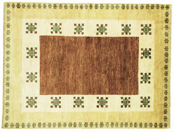 Afghan Modern Chobi Ziegler 210x160 Handgeknüpft Teppich 160x210 Mehrfarbig Geometrisch