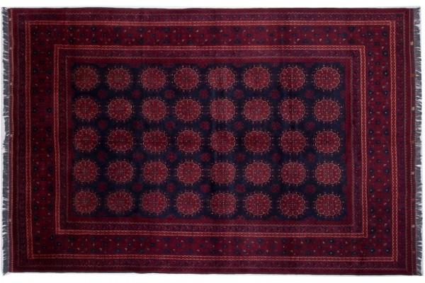 Afghan Kunduz 299x198 Handgeknüpft Teppich 200x300 Rot Orientalisch Kurzflor Orient Rug