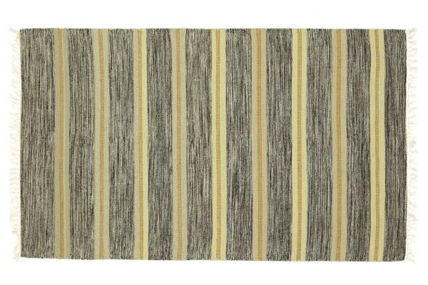 Kelim 180x120 Handgewebt Teppich 120x180 Braun Gestreift Handarbeit Orient Zimmer