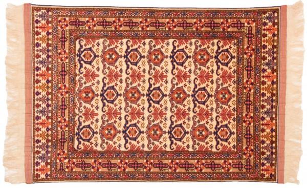 Afghan Mauri Kabul 163x115 Handgeknüpft Teppich 120x160 Beige Geometrisch Muster