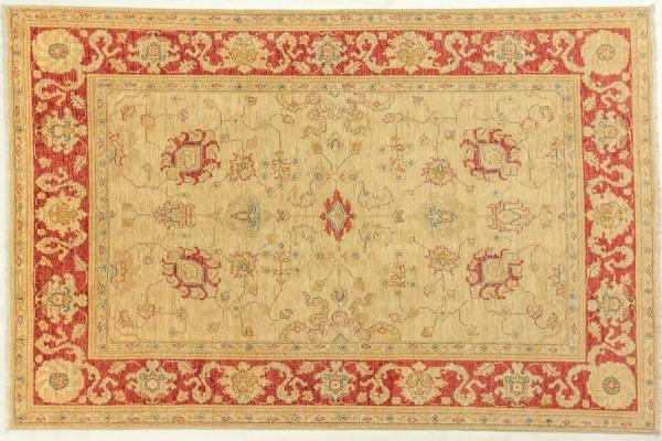 Afghan Chobi Ziegler 246x161 Handgeknüpft Teppich 160x250 Beige Orientalisch Kurzflor