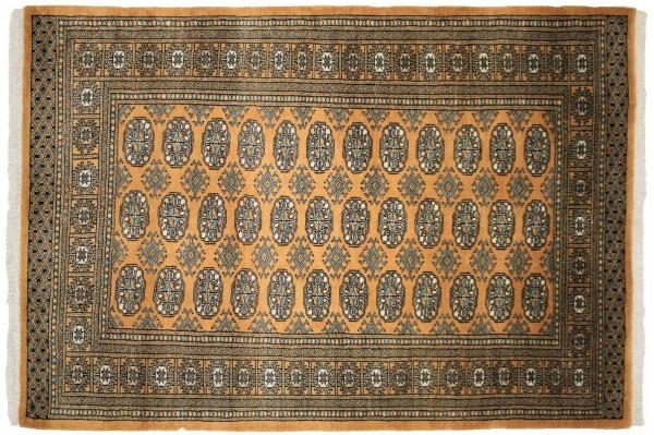 Pakistan Buchara 180x125 Handgeknüpft Teppich 130x180 Orange Geometrisch Muster