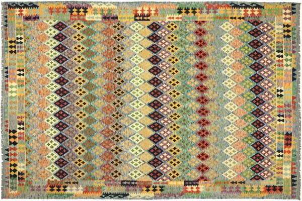 Afghan Maimana Kelim Bunt 349x260 Handgewebt Teppich 260x350 Bunt Geometrisch Orient