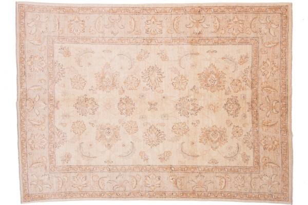 Afghan Chobi Ziegler 203x145 Handgeknüpft Teppich 150x200 Beige Orientalisch Kurzflor