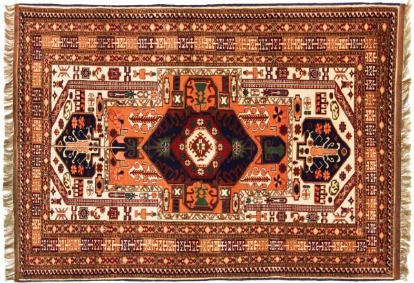 Afghan Mauri Kabul 157x113 Handgeknüpft Teppich 110x160 Beige Geometrisch Muster