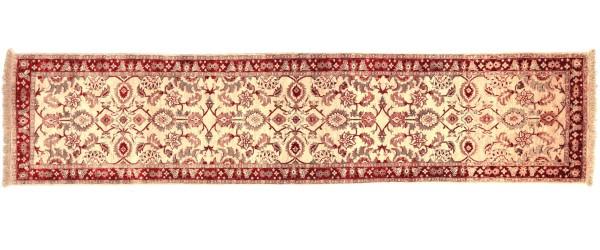 Afghan Chobi Ziegler 291x75 Handgeknüpft Teppich 80x290 Läufer Beige Orientalisch