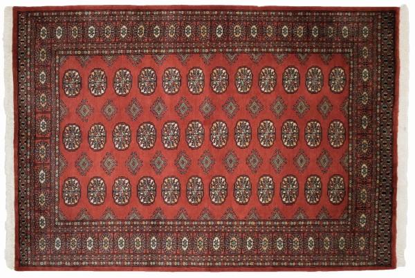 Pakistan Buchara 177x123 Handgeknüpft Teppich 120x180 Rot Geometrisch Muster Kurzflor