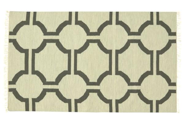 Kelim 180x120 Handgewebt Teppich 120x180 Beige Ornamente Handarbeit Orient Zimmer