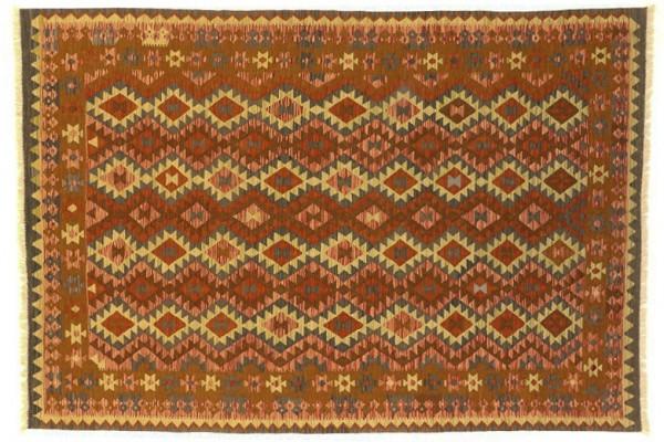 Afghan Maimana Kelim Bunt 294x201 Handgewebt Teppich 200x290 Mehrfarbig Geometrisch