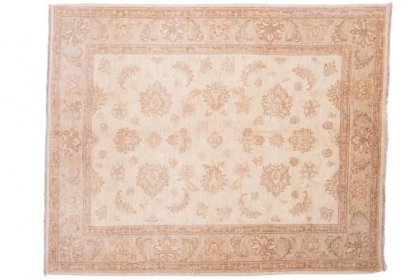 Afghan Chobi Ziegler 205x165 Handgeknüpft Teppich 170x210 Beige Orientalisch Kurzflor