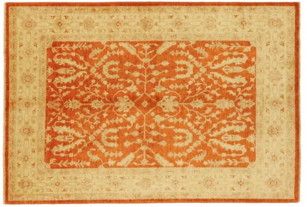 Afghan Chobi Ziegler 240x168 Handgeknüpft Teppich 170x240 Rot Orientalisch Kurzflor