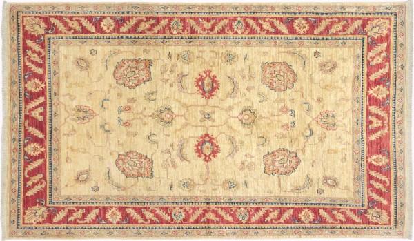Afghan Chobi Ziegler Fein 176x115 Handgeknüpft Teppich 120x180 Braun Geometrisch Muster