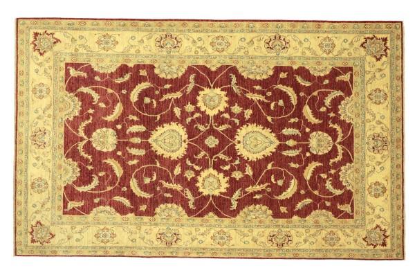 Afghan Chobi Ziegler 304x209 Handgeknüpft Teppich 210x300 Rot Floral Kurzflor Orient