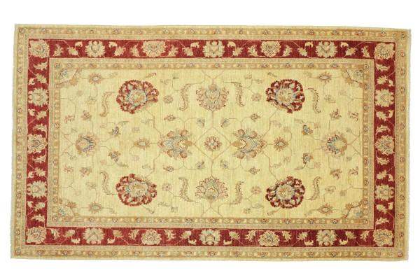Afghan Chobi Ziegler 245x165 Handgeknüpft Teppich 170x250 Beige Floral Kurzflor Orient