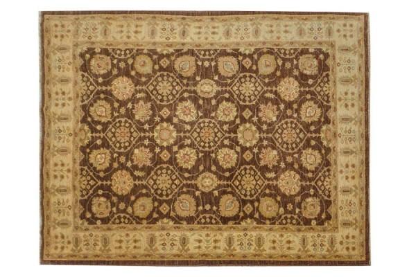 Afghan Chobi Ziegler 263x191 Handgeknüpft Teppich 190x260 Beige Orientalisch Kurzflor