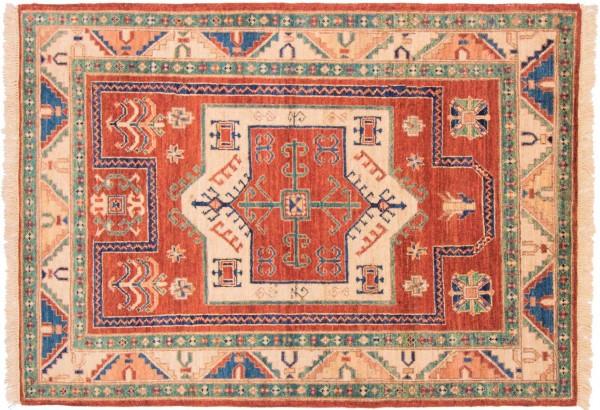 Afghan Chobi Ziegler 152x100 Handgeknüpft Teppich 100x150 Rot Geometrisch Muster